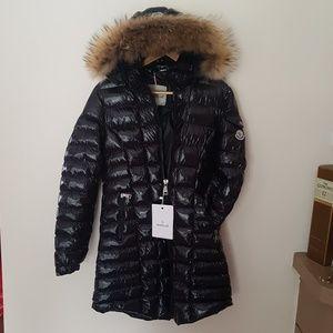 moncler coat fox fur hoodie long jacket women